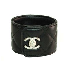 leather cuff by chanel