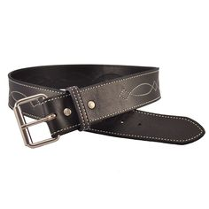 "2"" Select Leather Bridle Stitch Belt"