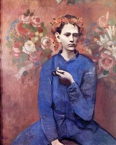 Boy with pipe - PABLO PICASSO Art Print by AUX BEAUX-ARTS. All art prints are printed on high quality paper and shipped within 3 to 4 business days. Kunst Picasso, Art Picasso, Picasso Paintings, Picasso Rose Period, Tableaux Vivants, Amedeo Modigliani, Spanish Painters, Jackson Pollock, Art Plastique