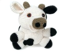 croceted animals | Cow Crochet Pattern » crochet cow stuffed animal