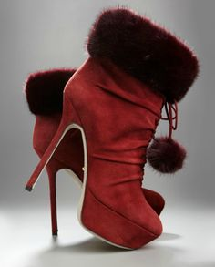 These made in Italy booties come from Sergio Rossi fall/winter 2011/2012 collection. Made out of soft and smooth suede with tie detail at the front.  Click here to buy.