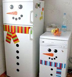 ❤ Easy Snowman Refrigerator Hack ❤Mindy - craft idea & DIY tutorial collection