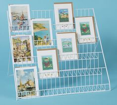 Lightweight collapsible greeting card display stand - ideal for mixed sizes in Crafts, Scrapbooking & Paper Crafts, Other Scrapbooking Supplies | eBay! Craft Fair Displays, Craft Stall Display, Store Displays, Card Displays, Display Ideas, Booth Ideas, Pegboard Display, Cardboard Display, Market Displays