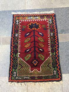 24x35 63x90cm Handmade Vintage Turkish Rug von KilimartStore