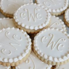 Hmmmm.  Monogram cookies and weddings.  A marriage made in heaven. For purchase!!!