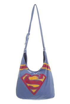 vintage Superman t-shirt hobo bag - looks like it could be a decent DIY project...