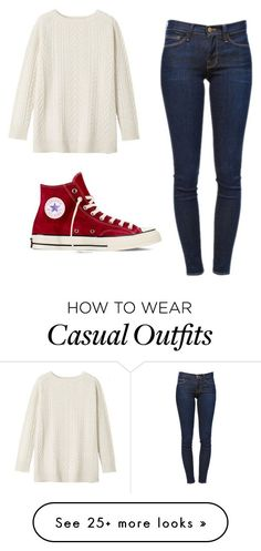 """Comfy Casual"" by anniemcm5 on Polyvore featuring Toast, Frame Denim and Converse"