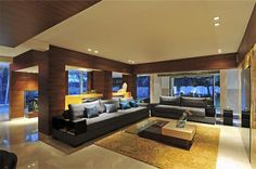 Living room.  Contemporary Bungalow by ZZ Architects