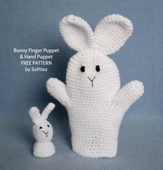 Bunny Puppet free crochet pattern - Free Easter Crochet Patterns - The Lavender Chair
