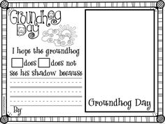 Students predict if they think the groundhog will see his shadow, write a sentence and draw a picture. Kindergarten Groundhog Day, Groundhog Day Activities, Kindergarten Science, Kindergarten Worksheets, Writing Activities, Classroom Fun, Classroom Activities, Holiday Activities, 1st Grade Writing