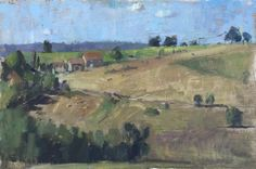 A Farm in the Dordogne. Oil Painting by Alice Boggis-Rolfe