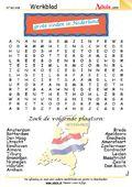 Woordzoekers - 54 werkbladen, verschillende thema's