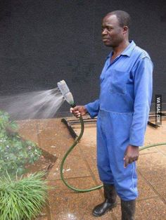 Cheap, simple and functions. Use a water bottle with holes poked in it as a sprayer.