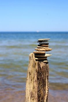 Beach Rock Stack by BethJ18