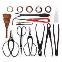 10 Piece Carbon Steel Bonsai Tool Kit Wire Bag Set