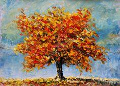 рисунок в цвете, дерево, 3