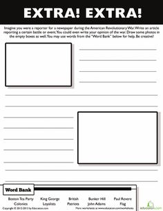 13 colonies writing activity 2nd