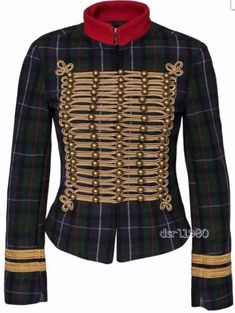 998850da339ac Ralph-Lauren-Denim-Supply-Women-Wool-Military-Army-Officer-Band-Jacket-Gold-Tone