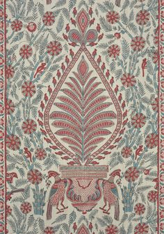 PALAMPORE, Red and Blue, AF78726, Collection Palampore from Anna French