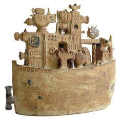 """Ark"" -- An Important Ceramic Sculpture by Stig Lindberg"
