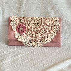 Clutch Small Purse Handmade Dusty Pink by CollingbrookDesigns