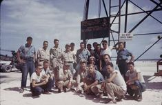 Navy Seabees on Tarawa. I don't see him in this pic but that is exactly where he was!!!!