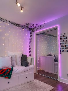 click on pic for more details lol Neon Bedroom, Room Design Bedroom, Room Ideas Bedroom, Small Room Bedroom, Indie Bedroom, Girl Bedroom Designs, Bedroom Inspo, Pinterest Room Decor, Dream Rooms