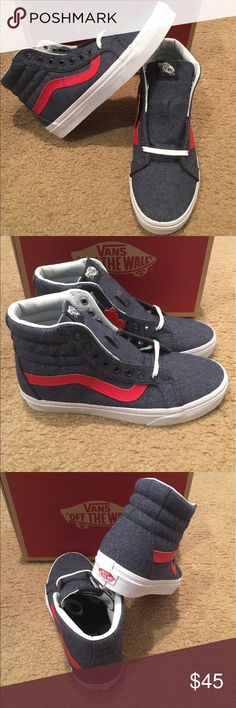 970d7e00fea1 Varsity Vans SK8Hi Reissue New in box. Navy true white Vans Shoes Sneakers  Tenis