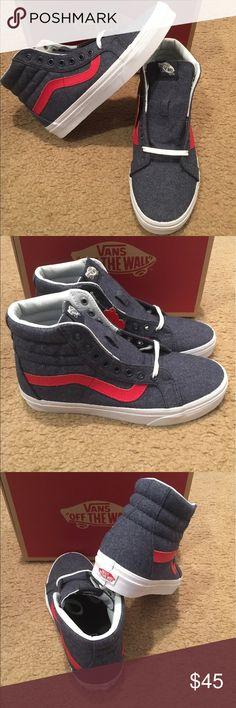 Varsity Vans SK8Hi Reissue New in box. Navy/true white Vans Shoes Sneakers