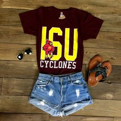 This ISU Cyclones t-shirt is perfect for every Iowa State fan! Show your school spirit in this new ISU t-shirt! GO CYCLONES!