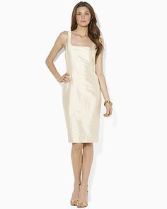 Here's a little sheath that may take you to the wedding in those SW PENNIESHI shoes. Ralph Lauren Dupioni Radia Dress | Bloomingdale's
