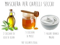 La mia maschera fai da te preferita per capelli secchi. Tre soli ingredienti: olio di oliva, miele e yogurt bianco. Beauty Secrets, Diy Beauty, Beauty Hacks, Curly Hair Treatment, Clear Skin Face Mask, Curly Hair Styles, Natural Hair Styles, Natural Beauty, Clinique Moisturizer