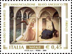 """2005 - """"Il Santo Natale"""": """"L'Annunciazione del corridoio Nord """" -  affresco (1440 circa) realizzato nel Convento di San Marco, in Firenze, attualmente Museo, in Firenze"""