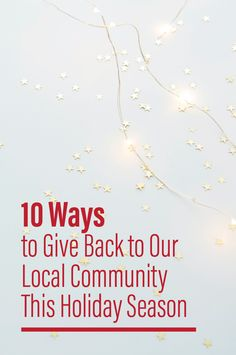 With the holidays upon us, December offers the perfect opportunity to give back to our community. Need some inspiration to do good in your town? For detailed tips and take-action ideas, check out our latest blog post: 10 Ways to Give Back to Our Local Community This Holiday Season.