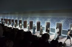 Marc Jacobs's Most Mind-Blowing Sets for Louis Vuitton: The boudoir-inspired Fall 2013 show, models entered the runway through numbered doors, and the audience was made to feel as if it was watching the goings-on in a very chic hotel.
