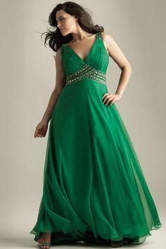 plus size yoke dress evening