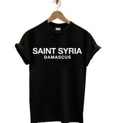 Saint Syria Damascus T-shirt #saintsyria #syria #damascus https://www.etsy.com/uk/listing/201020047/saint-syria-tshirt-palestine-celine?ref=shop_home_active_13