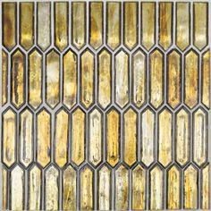 Komorebi Firefly Glass Tile Glass Mosaic Tiles, Wall Tiles, Palermo, Mediterranean Tile, Splashback Tiles, Kitchen Backsplash, Art Deco, Dark Star, Hexagon Pattern