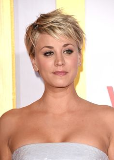 Kaley Cuoco Short Straight Hairstyle. Try on this