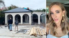 Bec Judd shares Melbourne renovation update with timber floorboards and terazzo tiles with Terrazzo Tile, Tiles, Nordic Blonde, Spanish Colonial Homes, Brighton Houses, Flannel Flower, New Staircase, Fiberglass Pools, Melbourne House