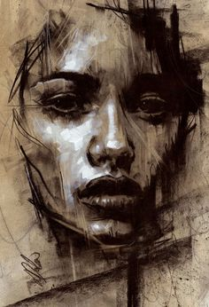 Abstract Portrait Painting, Painting & Drawing, Portrait Paintings, Time Painting, Pintura Graffiti, L'art Du Portrait, Art Drawings Sketches, Pencil Drawings, Portrait Sketches