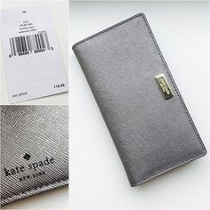 ✨Brand new! Kate Spade Stacy in Anthracite Perfect for day! Perfect for night! Can a wallet be more versatile than this one? Plus it's so handy with all its card pockets and ID window! I have this myself in the pink! This color is perfect for those who r more daring and adventurous! kate spade Bags Wallets