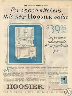 This is my hoosier cabinet EXACTLY. I also have a matching side board and drop leaf table with 4 chairs. I still have all of the original accessories it came with - meat grinder, rolling pin and all of the spice jars. I was told the original color was pink, I remember it being yellow as a child, it is now white with red trim.