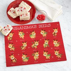 Convenient and oh-so-cute, our cutting board displays every one of her little (rein) deers. Easy Gifts, Cute Gifts, Unique Gifts, Garden Clearance, Christmas Clearance, Glass Cutting Board, Personalized Christmas Gifts, Holiday Wishes, Christmas Decorations