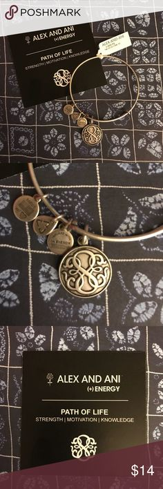 """🌟NEW🌟 Alex and Ani Path of Life Bracelet PATH OF LIFE Charm Bangle strength 