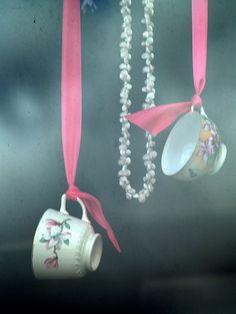hang a teacup...for a hightea party....