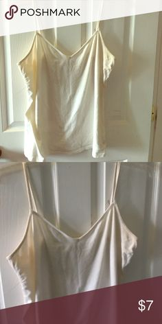 Old navy layering top 2for12 White old navy layering top worn but has life Old Navy Tops