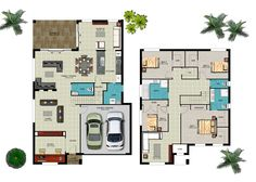 double story house floor plans - Google Search