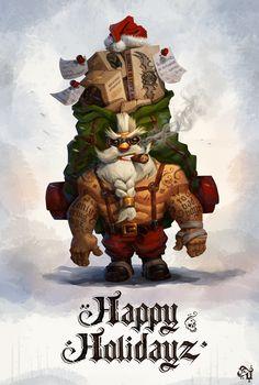Tomi Dzurovski on Behance Badass Santa Merry Christmas Funny, Dark Christmas, Christmas Humor, Christmas And New Year, Xmas, Holiday Images, Christmas Images, Character Art, Character Design