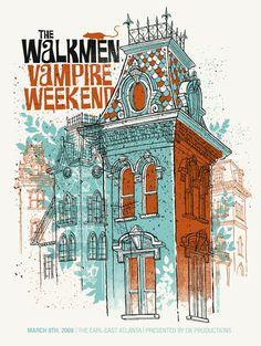 The Walkmen & Vampire Weekend by Methane Studios. >>>mezcla de tramas y combinación con dibujo